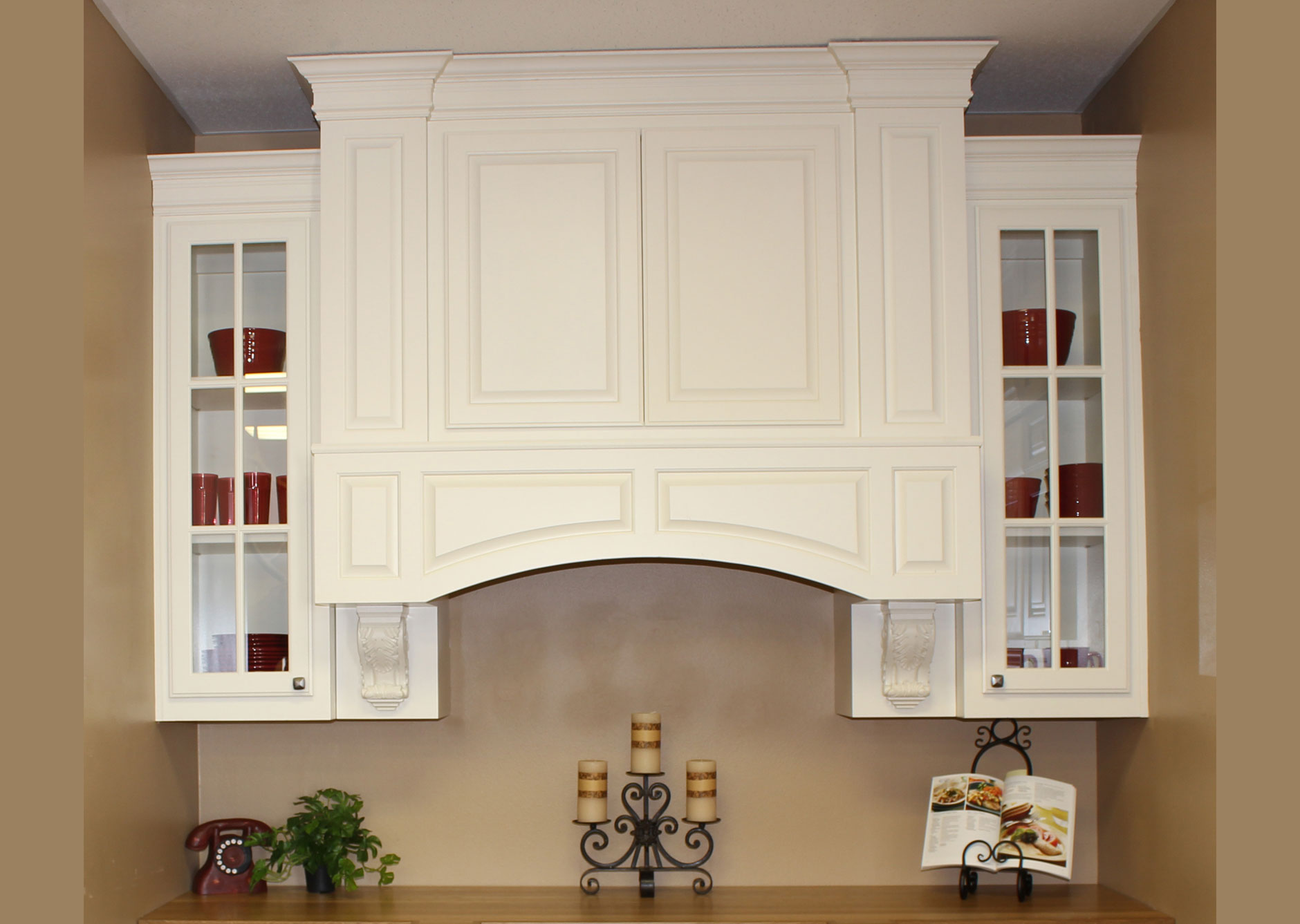 Elite Vent Hood by Burrows Cabinets with painted finish