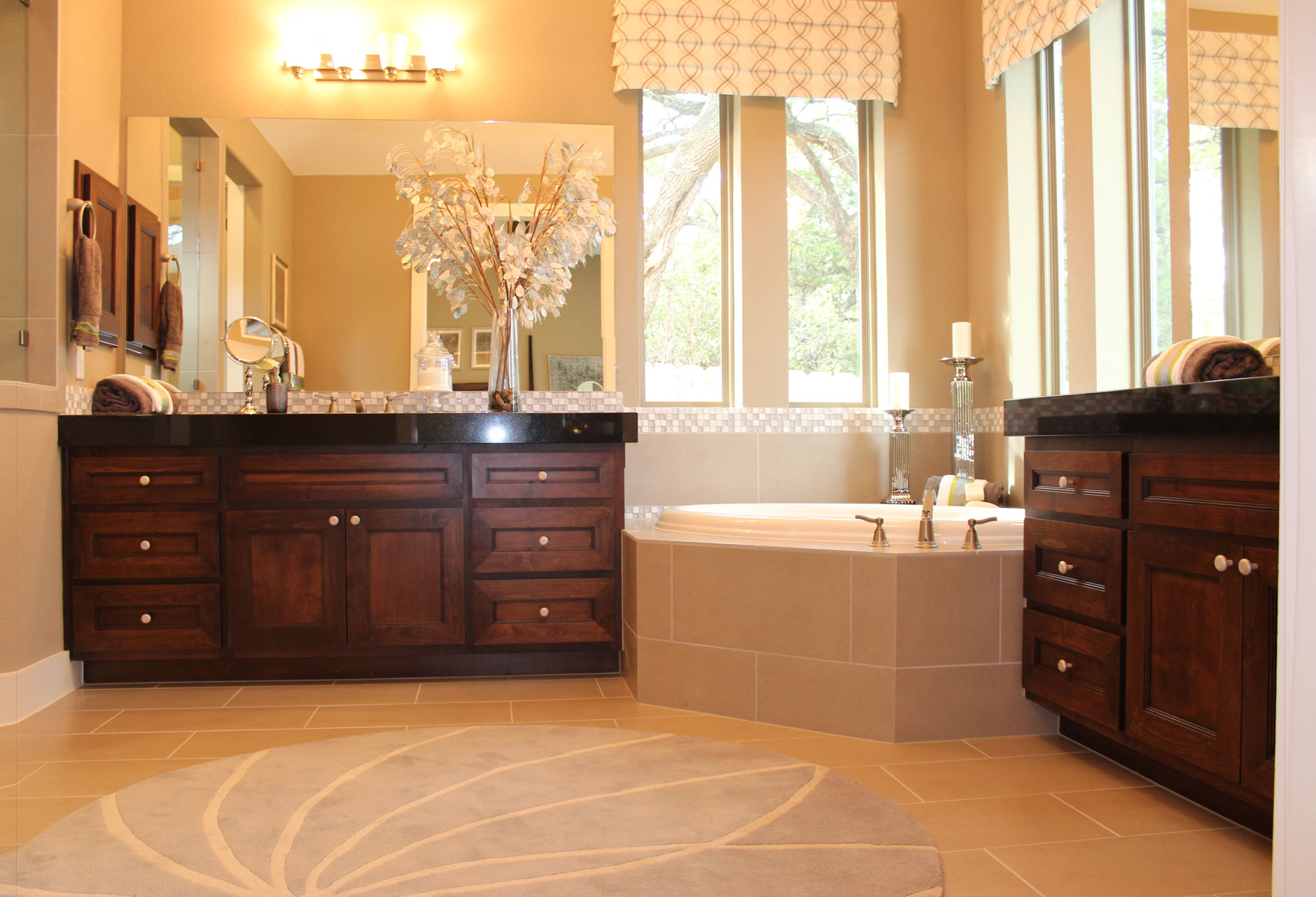Bathroom vanity cabinets by Burrows Cabinets