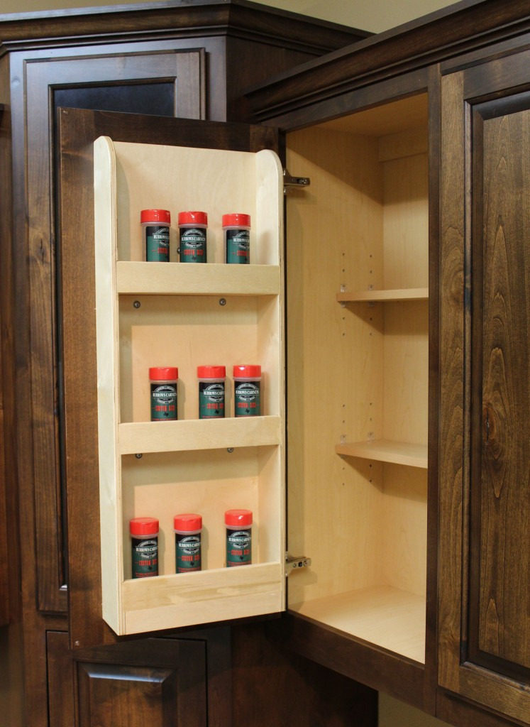 Spice Rack Door Mounted Burrows Cabinets Central Texas Builder