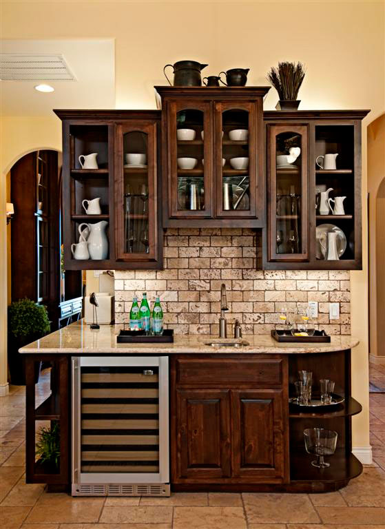 Burrows Cabinets' Upper kitchen cabinet bumped up