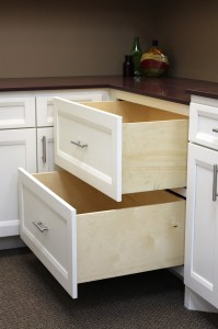 Large pot and pan drawers by Burrows Cabinets