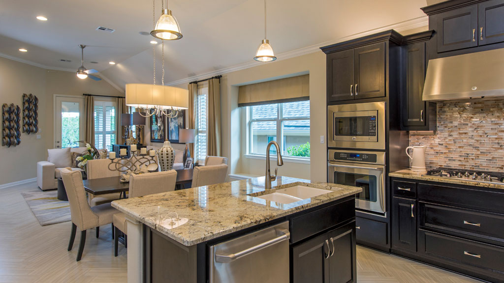 Burrows Cabinets kitchen cabinets in modern Briscoe style in Beech Rye
