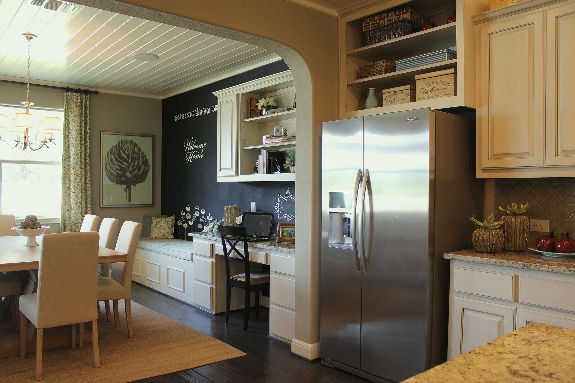 Kitchen 49 Desk - Burrows Cabinets - central Texas builder-direct