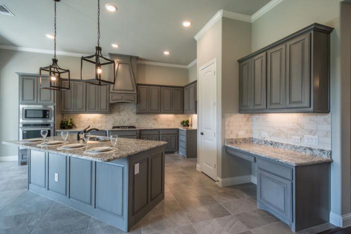 Paneled kitchen island