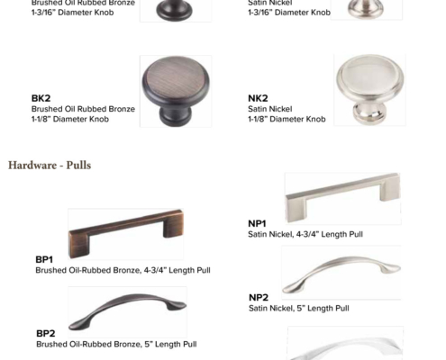 Burrows Cabinets 2018 door hardware options