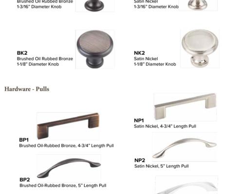 Burrows Cabinets 2018 door hardware options