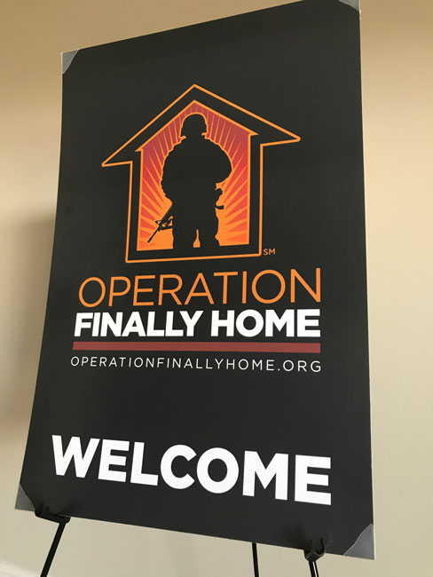 BC Operation Finally Home - welcome sign