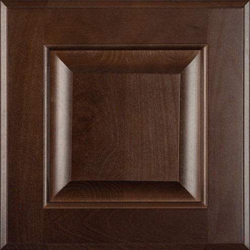 Burrows Cabinets' beech raised panel door in Kona