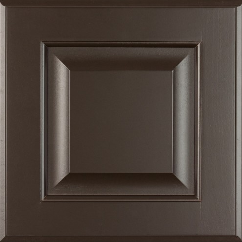 Burrows Cabinets' 5-piece raised panel door in Bistre