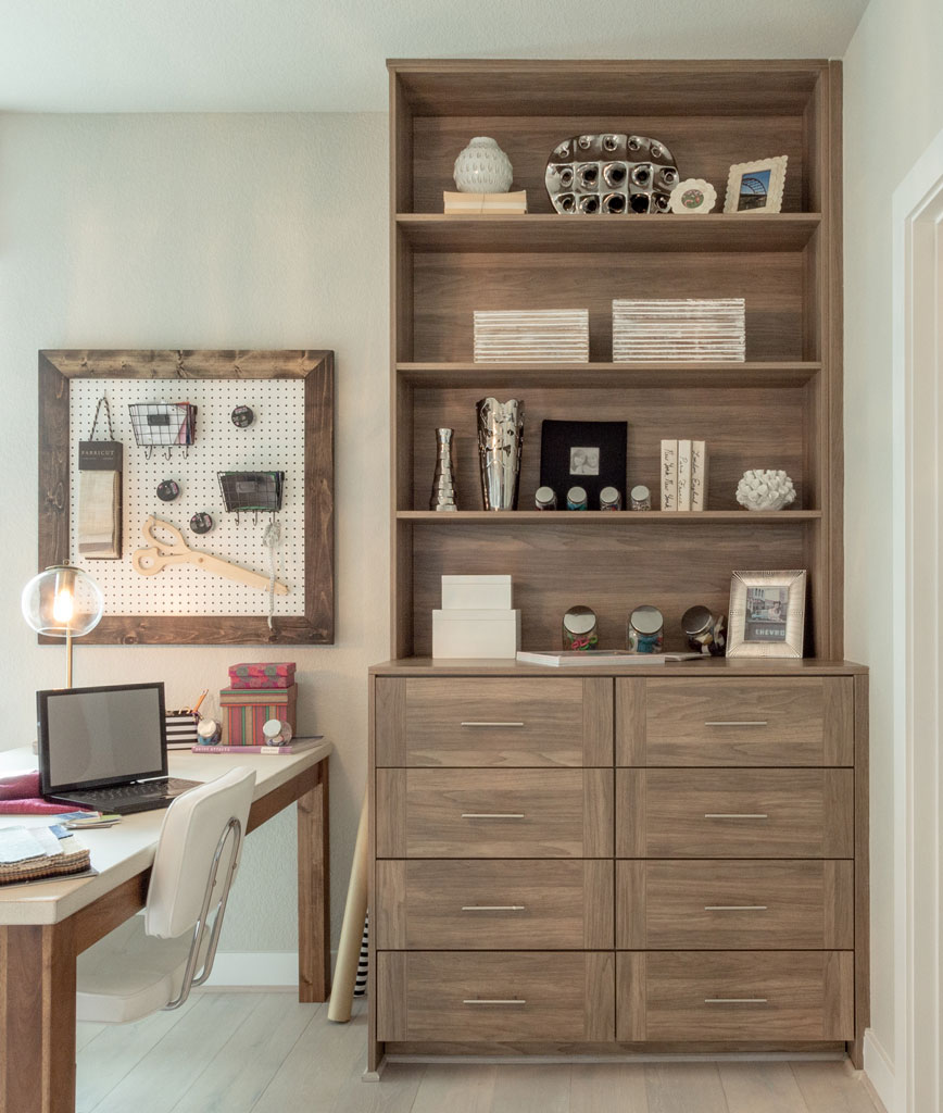 EVRGRN dresser with bookshelf with 3-piece drawer fronts