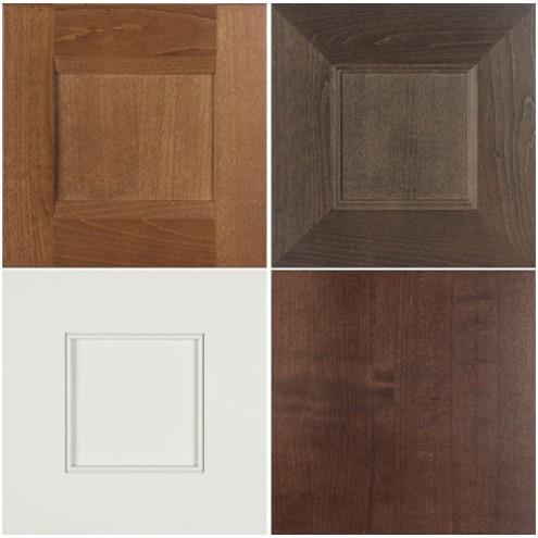 Burrows Cabinets' Briscoe, Terrazzo, Kensington and SoCo door styles