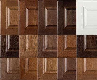 Burrows Cabinets' doors in Bali, Ambrose, Barbado, Kona and Frost