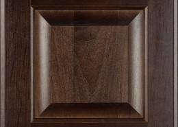 Burrows Cabinets' Clear Alder raised panel door in Kona