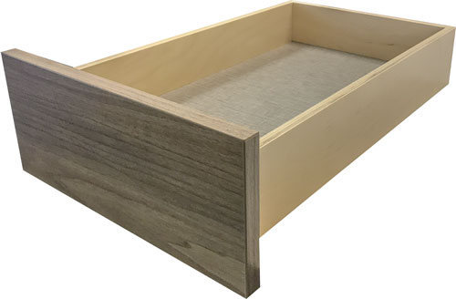 EVRGRN Drawer Box side view with Linen interior