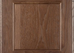 Burrows Cabinets flat panel door in Hickory Barbado