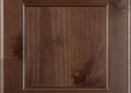Burrows Cabinets' flat panel door in Knotty Alder Barbado