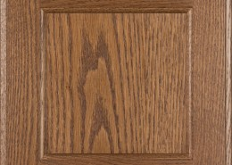 Burrows Cabinets flat panel door in Red Oak Bali