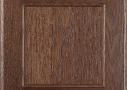 Burrows Cabinets flat panel door in Red Oak Barbado