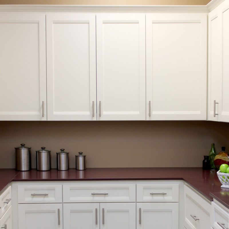 Burrows Cabinets' full overlay kitchen with Briscoe doors