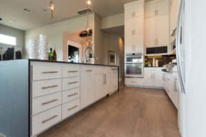 Burrows Cabinets' full overlay kitchen with SoCo doors - island view