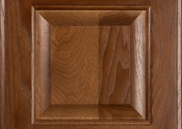 Burrows Cabinets' hickory raised panel door in Ambrose