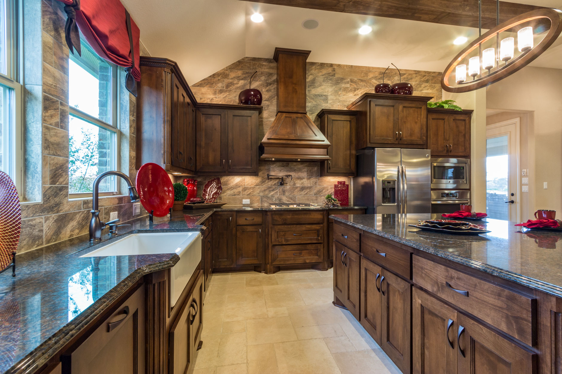 Kitchen 057 - Burrows Cabinets - central Texas builder ...