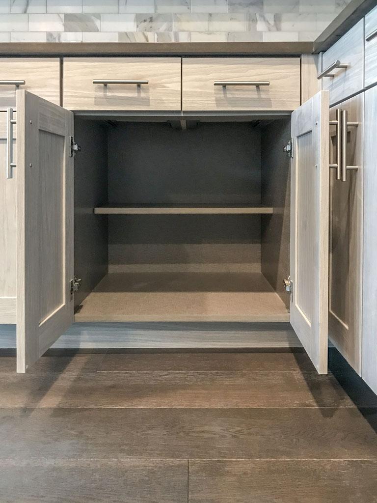 Kitchen EVRGRN Artisk Open Lower Cabinets