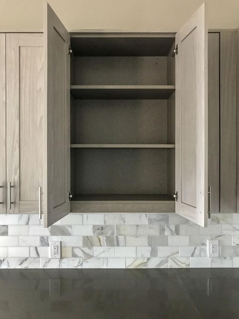 kitchen artisk open upper adjustable shelves