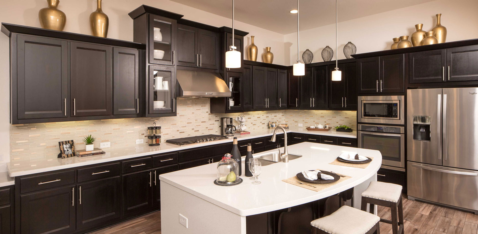 Kitchen 074 - Burrows Cabinets - central Texas builder ...