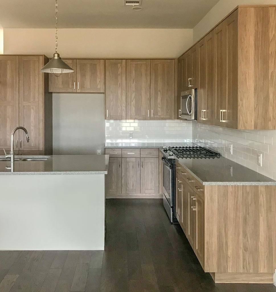 EVRGRN kitchen with 5 Piece doors