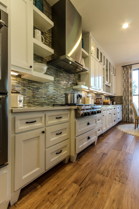 Burrows Cabinets' kitchen with Terrazzo doors and furniture-look bunn feet