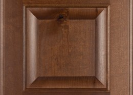 Burrows Cabinets' knotty alder raised panel door in Ambrose