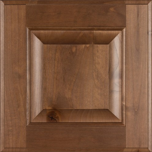Burrows Cabinets' knotty alder raised panel door in Bali