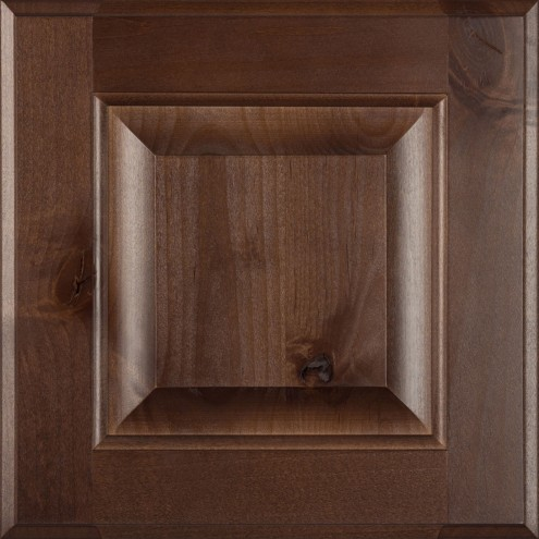 Burrows Cabinets' knotty alder raised panel door in Barbado