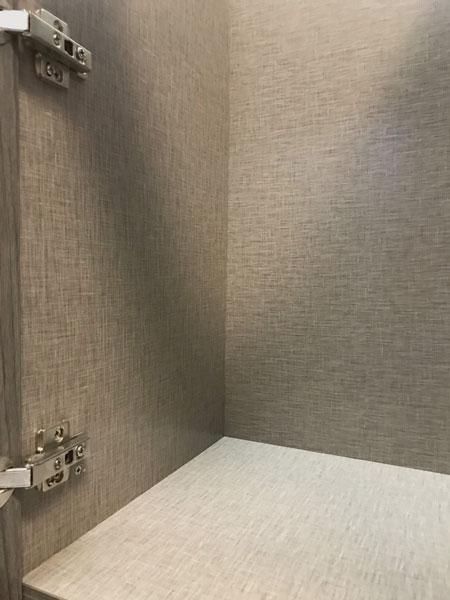 EVRGRN Linen cabinet interior