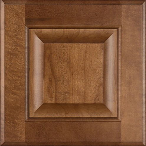 Burrows Cabinets' maple raised panel door in Toffee