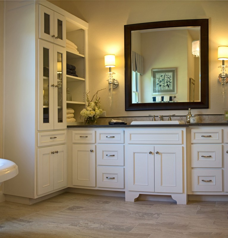 Burrows Cabinets' master bath with Kensington doors