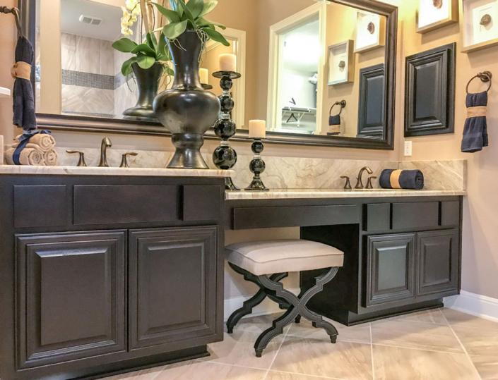 bathroom with knee space vanity
