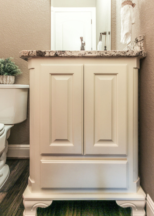 Burrows Cabinets' elegance powder room vanity