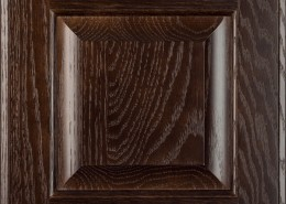 Burrows Cabinets' red oak raised panel door in Kona
