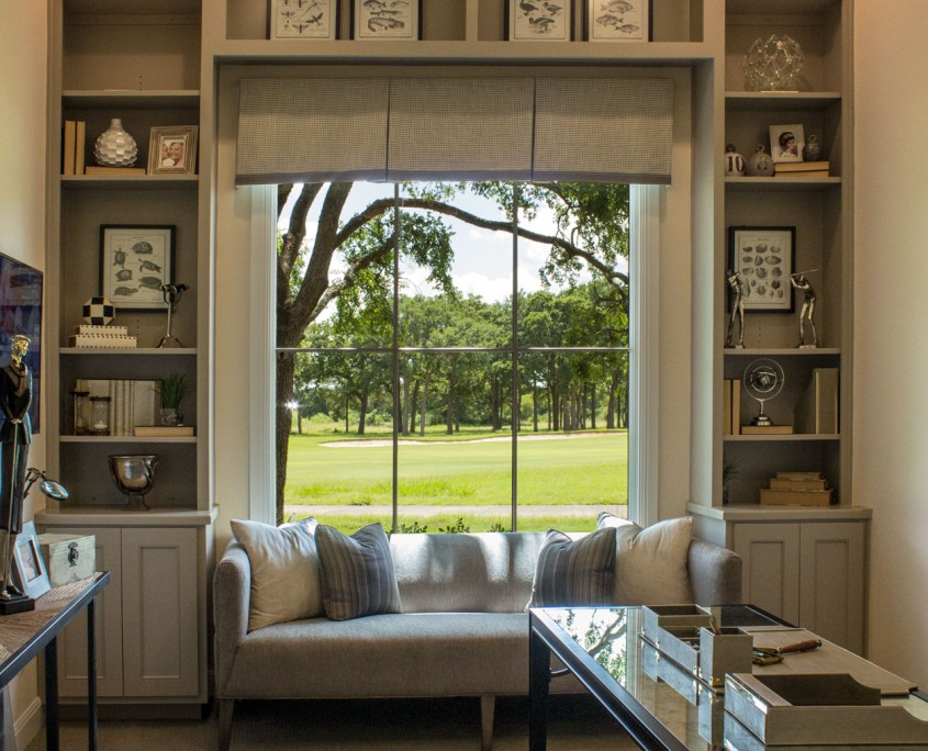 Burrows Cabinets' built-in study cabinets with Kensington doors