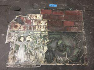 Damaged Henry Holiday window St. Luke's Hospital NYC