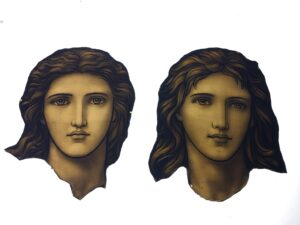 Cleaned Henry Holiday face plate St. Luke's Hosp. NYC