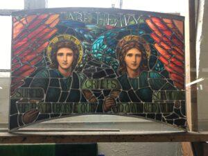 Restored Henry Holiday window St. Lukes NYC