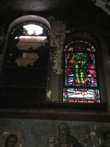 Damaged SG St. Mary's Ukrainian Church, Carteret, NJ