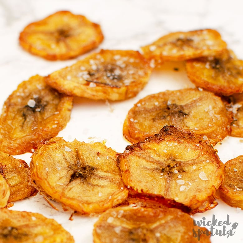 Wicked Spatula Easy Whole30 Baked Plantain Chips