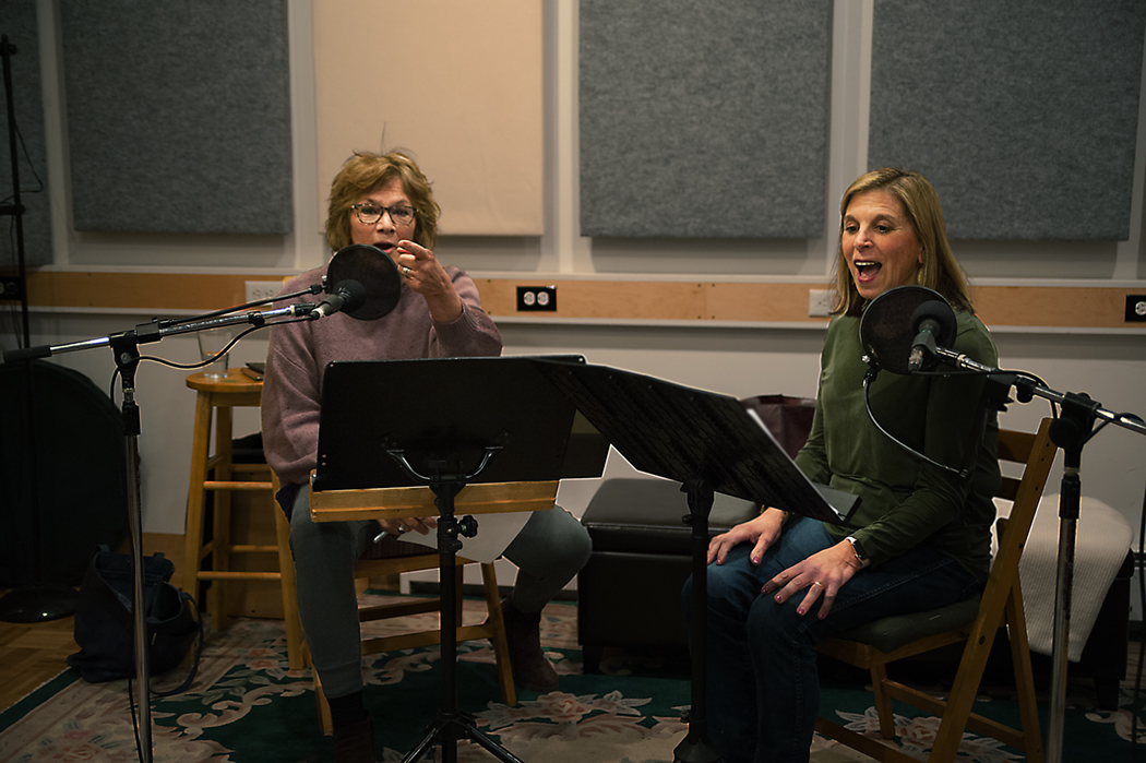 Candace and Kyle in the Studio