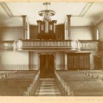 Circa 1900 photo prior to move of pipe organ to front altar.