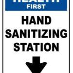 Hand sanitizing station sign