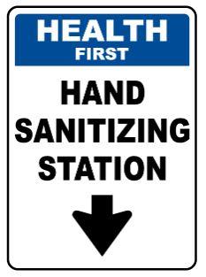Hand sanitizing sign